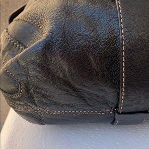 Francesco Biasia Bags - Francesco Biasia black gold satchel handbag